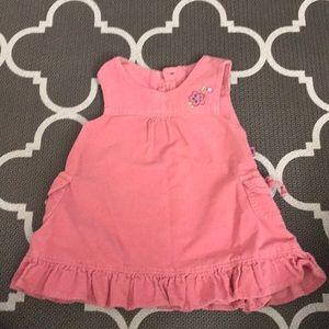 Sleeveless corduroy pink jumper